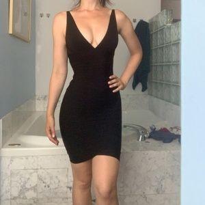 Herve Leger black bandage mini cocktail dress XS